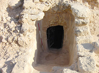 The recently discovered Cave of John the Baptist near Suba in Israel