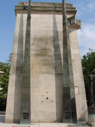 Mitterrand's highly esoteric Monument to the Rights of Man and the Citizen, Paris