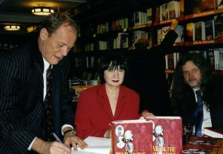Stephen, Lynn and Clive at a book signing in Harrod's.