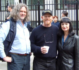 With Ron Howard during filming of The Da Vinci Code